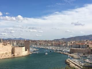 Marseille/View from Parc Pharo/Old Port