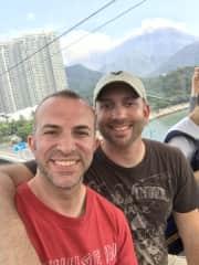Matthew and I exploring Hong Kong