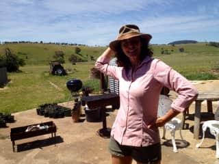 Me on a farm stay near Castlemaine/Australia