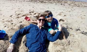 Lynn & Sebastian Having Fun at the Beach!