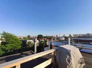 Rooftop terrace with a great view, barbecue and loungeset