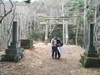 David and I bushwalking in Japan
