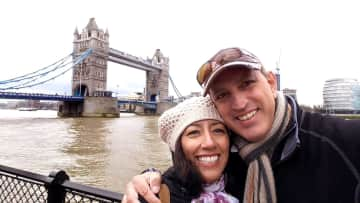 Babak and Kathy in London.