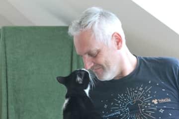 Nicolo with Oscar in Switzerland