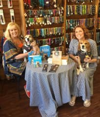 Books are a passion - here I am at a signing in San Luis Obispo for my dog travel memoir Bodie on the Road with NYT Bestselling author Teresa J Rhyne and her 2 Beagles!