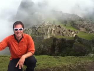 Our son, Sam, in Machu Picchu
