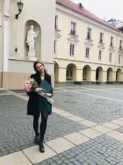 This is me after receiving my Master's degree in Mathematics from Vilnius University in 2020. I also have Bachelor's degree in Financial and Actuarial Mathematics.