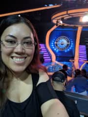 Me as an audience member on who wants to be a millionaire