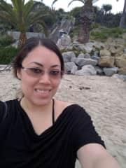 Enjoying a nice overcast day at the beach