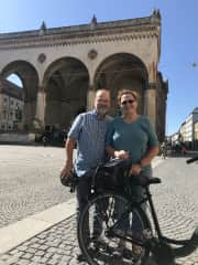 Touring Budapest by bike.