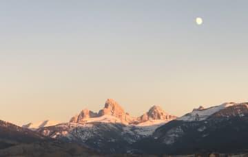 Autumn Moon Rise Tetons