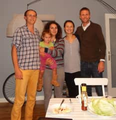 Me and my family in Hamburg, Germany, with the flat owners. There we looked after their apartment