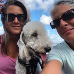 Always love a walk with Edie and one of our daughters.