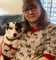 Haley and I enjoying the holidays in matching pajamas!  2020