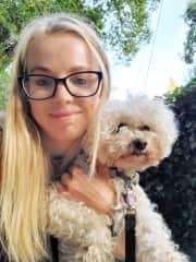 Relaxing walk with Kelsie in Forestville, CA. :)