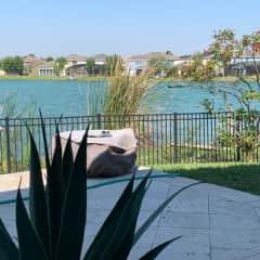 Back yard view of Lake