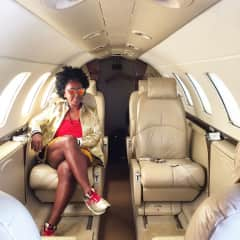 Flying from the Grenadines to Barbados in style