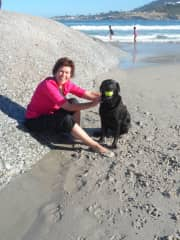 Early morning beach with Inca, Cape Town