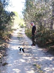 Flossy – she was the loner of the pack, seven cats in total, she would accompany us a little way as we set off walking and would often appear from the shrubbery on our return.