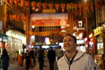 Me in London's Chinatown