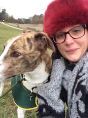 Me and Ted the rescue greyhound