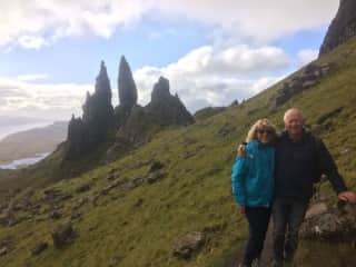 On top of Old Man Of Storr on the Isle of Skye