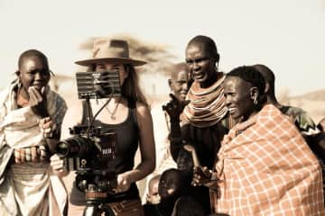 Filming the Samburu trib in Northern Kenya