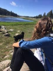 Caity and Ranger, Mount Laguna, California