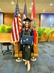 Graduation with my LLM degree