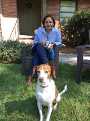 Nereyda with Beau at a sit in Buckhead, Georgia