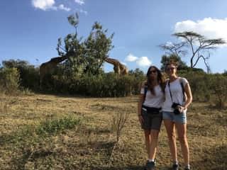 Anaïs and I on a safari in Kenia