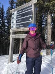 January 19 in Canada, my first black run