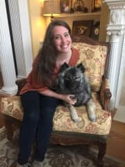 My precious pup and myself!