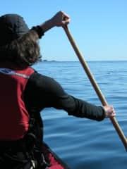 Ocean canoeing near Klemtu, BC.