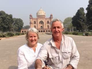 Estelle and Graeme, New Delhi