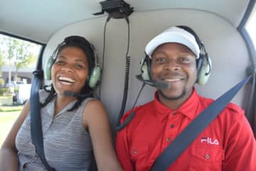 Helicopter ride with my husband in Orlando, FL.