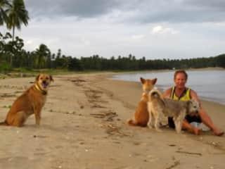 Relaxing on a Thailand beach