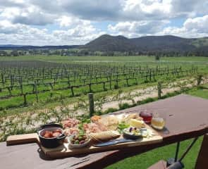Lookout from the deck at Moothi Estate Cellar Door