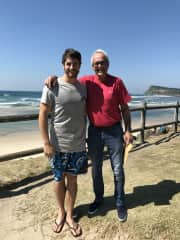 My son Joel and myself.