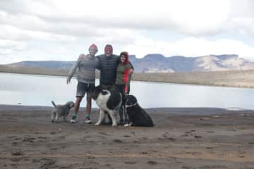 When Kata's father came back from holiday, we went hiking with Bob, Lola and Raquel
