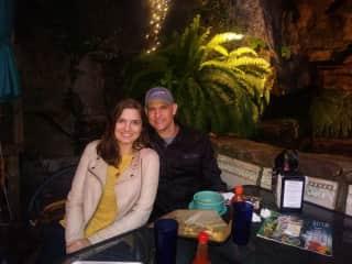 Sam & Kristine exploring Eureka Springs, Arkansas