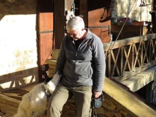 René with the dog Darius