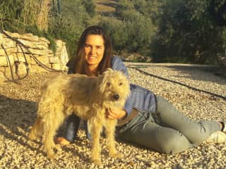 Me with Mylor after a nice sunset walk in Andalucia