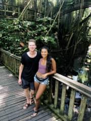 & at the monkey forest in Ubud!