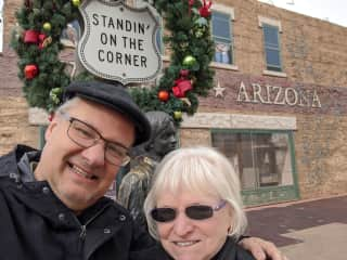 Yes, there we be, standing on the corner in Winslow Arizona!