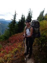 Backpacking in the North Cascades.