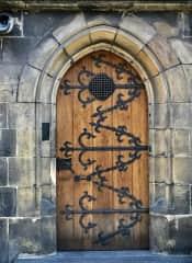 Medieval door, Prague