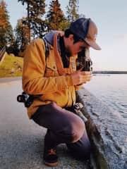Dan always has multiple cameras on his person