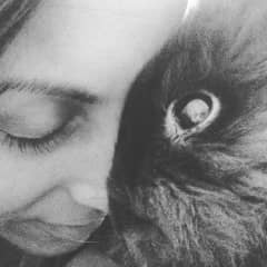 me with my bunny, anisette, before she passed.