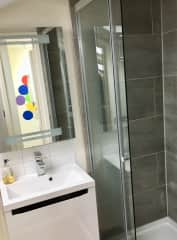 Your bathroom right next to the bedroom